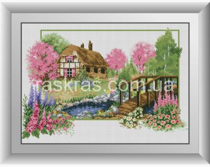 DA-30798 алмазная вышивка Дом в саду Dream Art