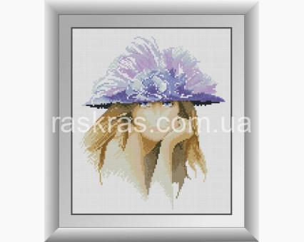 DA-30939 алмазная вышивка Девушка в фиолетовой шляпке Dream Art