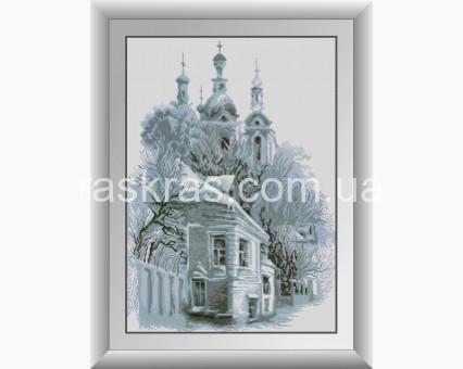 DA-31022 алмазная вышивка Заснеженная церковь Dream Art