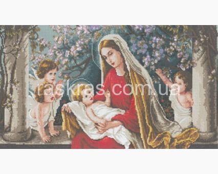 DVF1005 алмазная вышивка Мадонна в яблоневом саду Алмазная мозаика