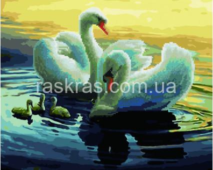 GZS1096 алмазная картина Лебеди на пруду Rainbow Art