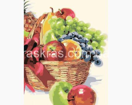 KH2910 картина по номерам Корзинка фруктов Идейка