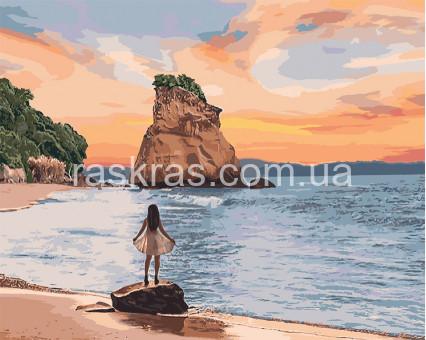 KH4727 Картина по номерам Необитаемый остров Идейка