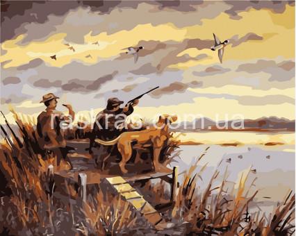 KHO2252 картина по номерам Охота на уток Идейка