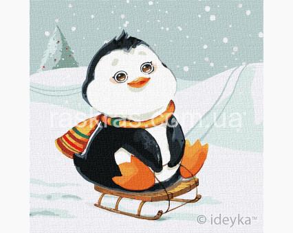 KHO2371 Картины по номерам для детей Зимнее катание Идейка