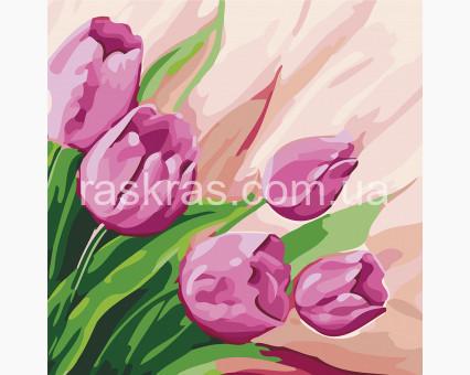KHO2948 Рисование по номерам Персидские тюльпаны (Без коробки) Идейка