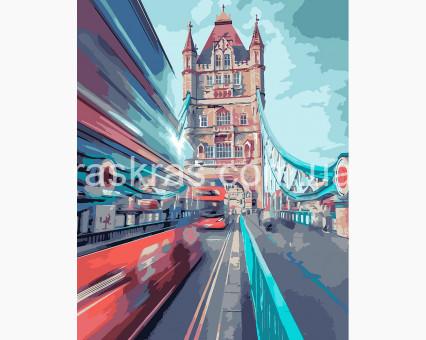KHO3570 Картина по номерам Динамический лондон (Без коробки) Идейка