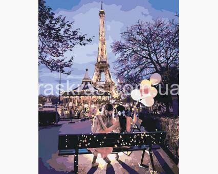 раскраска по номерам Идейка подружки в Париже