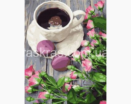 PGX30990 картина по номерам Доброе утро Brushme Premium