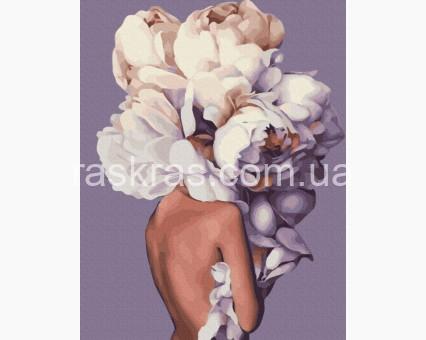 PGX36697 картина по номерам Женственные пионы Brushme Premium