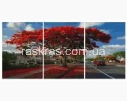 PX5302 картины по номерам Красное дерево НикиТошка