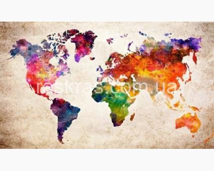 TN1027 алмазная вышивка Карта мира My Art