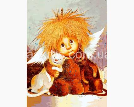 VK288 картина по номерам Объятия кошек DIY Babylon