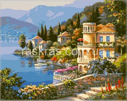 VPS019 картина по номерам Цветущее побережье DIY Babylon