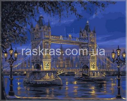 VPS049 картина по номерам Тауэрский мост DIY Babylon