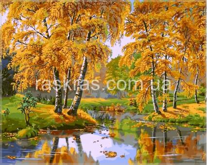 VPS163 картина по номерам Осенний день DIY Babylon
