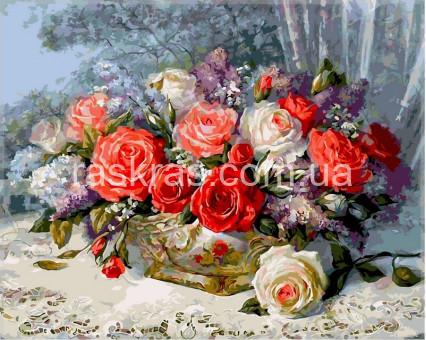 VPS337 картина по номерам Розы на веранде DIY Babylon
