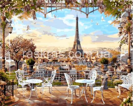 Большая картина по номерам Париж весной