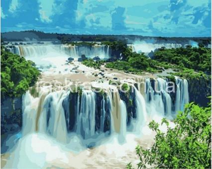 VPS822 Раскраска по номерам Водопад Игуасу Бразилия DIY Babylon