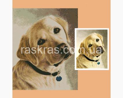 231728 набор по фото на подрамнике Портрет из страз по фото на подрамнике 80 х 100 см ТМ Алмазная мозаика