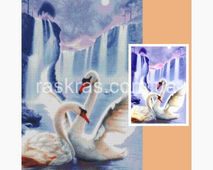 179742 Алмазная вышивка по фото Алмазная мозаика по фото 70 х 50 см Алмазная мозаика
