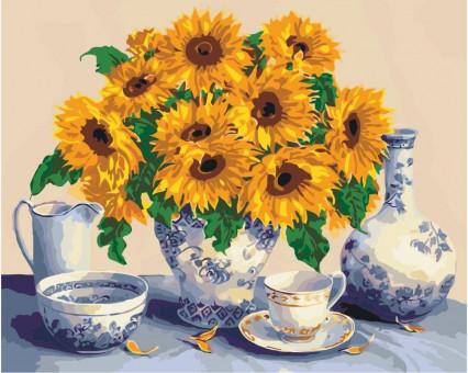 KH5519 картина по номерам Солнечный натюрморт Идейка