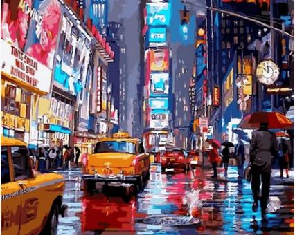 VP762 картина по номерам Таймс-сквер. Нью-Йорк DIY Babylon