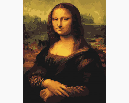 BK-G241 картина по номерам Мона Лиза Brushme