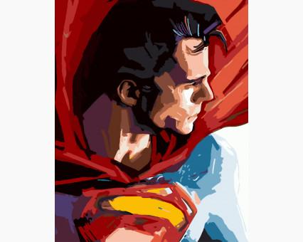BK-GX8733 Картины по номерам для детей Супермен Brushme