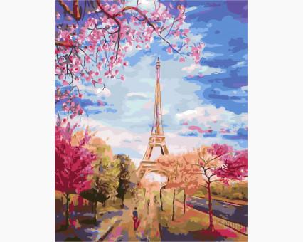 Купить AS0137 Картину раскраска Весеннее небо Парижа ArtStory