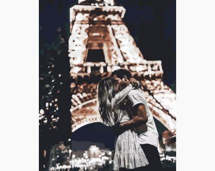 AS0190 картина по номерам Свидание в Париже ArtStory