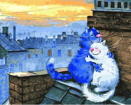 BK-GX22931 Раскраска по цифрам Любовь на крыше (Без коробки)