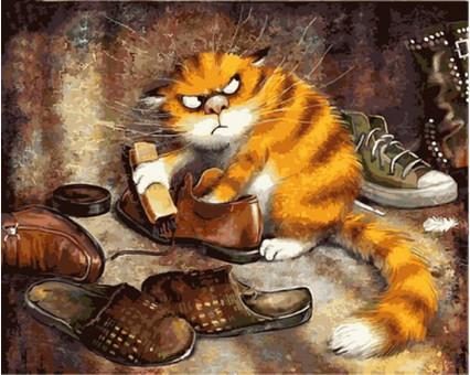 Купить VP877 Картину раскраска Недовольный кот DIY Babylon