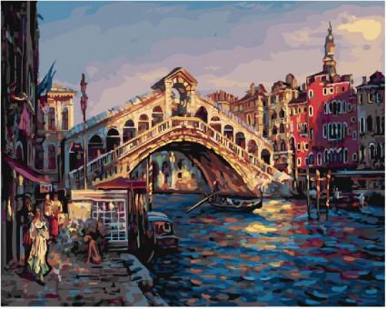 BK-GX23160 Раскраска на холсте Прекрасная Венеция (Без коробки)