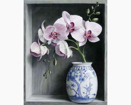 DM-112 алмазная вышивка Орхидеи в вазе ТМ Алмазная мозаика