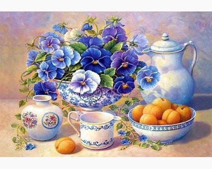 Алмазная мозаика Алмазная мозаика Цветы на столе (DM-216) 40 х 30 см