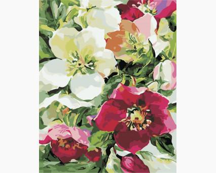 AS0340 картина по номерам Цветочное настроение ArtStory