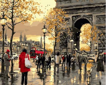 AS0362 картина по номерам Осенняя Франция ArtStory