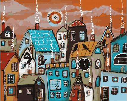 AS0364 картина по номерам Сказочный городок ArtStory