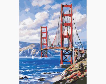 AS0366 картина по номерам Сан-Франциско ArtStory