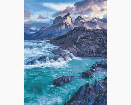 AS0375 картина по номерам Прибрежные скалы ArtStory