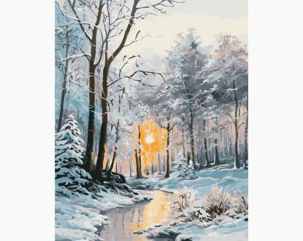 AS0377 картина по номерам Зимний лес ArtStory