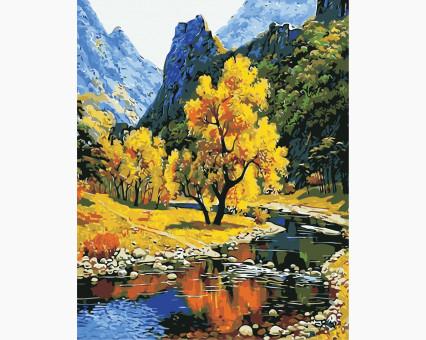 AS0384 картина по номерам Осень в горах ArtStory