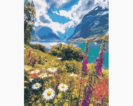 AS0386 картина по номерам Лето в горах ArtStory