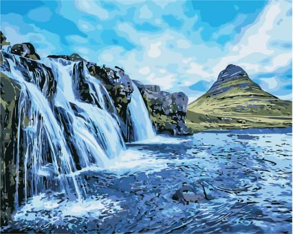 AS0387 картина по номерам Водопады ArtStory