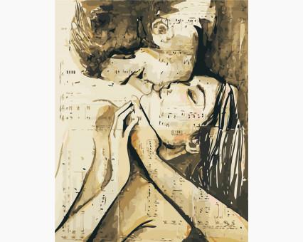 AS0431 картина по номерам Песня любви ArtStory