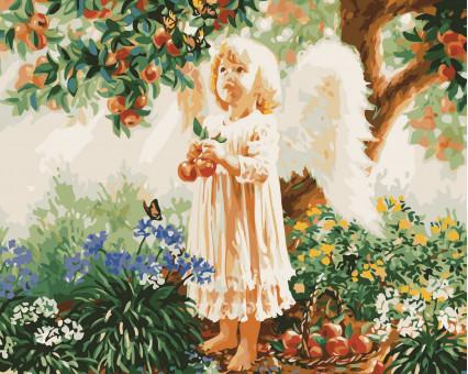 AS0452 картина по номерам Ангелочек ArtStory