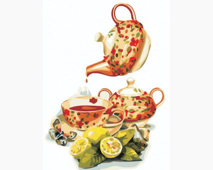 AS0480 картина по номерам Чай с лимоном ArtStory