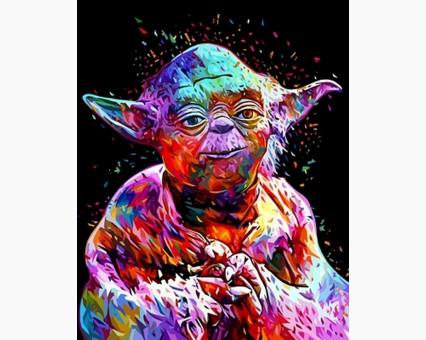 VP1073 Картина по номерам Звездные войны Мастер Йода Babylon