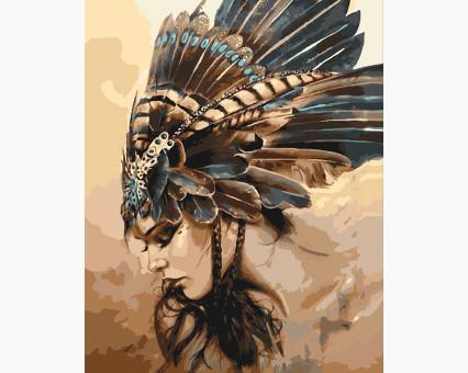 KHO4586 Картина раскраска Охотница (Без коробки) Идейка